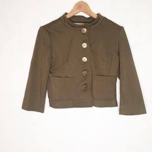 Anthropologie Cartonnier M Olive Button Blazer